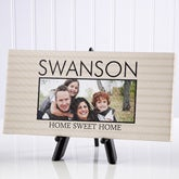 "Personalized Photo Canvas Prints - Family Stripes - 5""x11"" - 13801"