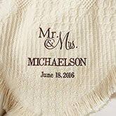 Personalized Couples Afghan - Wedding & Anniversary - 13803