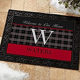 Personalized Family Doormats - Northwoods Plaid - 13805
