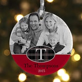 Personalized Photo Christmas Ornaments - Northwoods Plaid - 13810