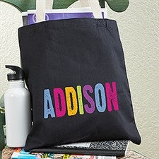 dd5370160956 Personalized Kids Tote Bags - Hands Off - 13822