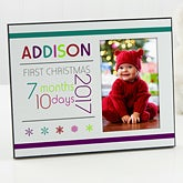 Personalized First Christmas Picture Frames - Baby's Age - 13826