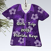 Personalized Christmas Ornaments - Tropical T-Shirt - 13862