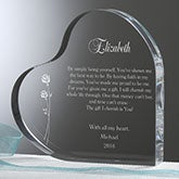 Personalized Romantic Heart Keepsake Gift - Your Love Letter - 13863