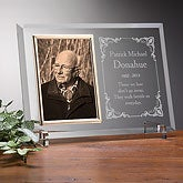 Personalized Memorial Glass Picture Frame - Walking Beside Me - 1388