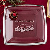 Personalized Christmas Serving Platters - Deck The Halls - 13891