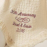 Personalized Wedding Anniversary Afghan - Happy Anniversary - 13892