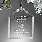 Personalized Christmas Ornaments - Create Your Own Glass House - 13893