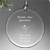 Personalized Glass Christmas Ornaments - Round - Create Your Own - 13894