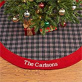 Personalized Christmas Tree Skirts - Northwoods Plaid - 13903