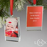 Personalized Picture Frame Christmas Ornaments - Lenox - 13907