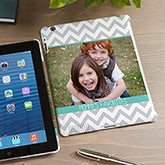 Personalized Photo iPad Case - Chevron Photo - 13923