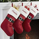 Personalized Christmas Stockings - Santa Belt - 13924