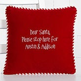 Personalized Red Velvet Christmas Pillow - Any Message - 13927