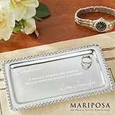 Personalized Jewelry Tray - Mariposa String of Pearls - 13943