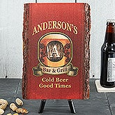 Personalized Vintage Bar Sign - Basswood Plank - 13949