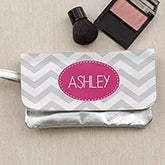 Personalized Ladies Wristlet Purse - Chevron Print - 13955