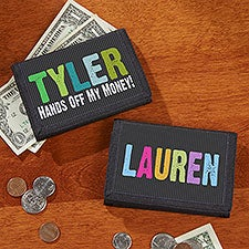 Personalized Kids Wallets - Hands Off - 13959