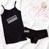 Personalized Red Camisole & Boyshort Set - Sealed With A Kiss - 13965