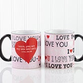 Personalized Romantic Coffee Mugs - All About Love - 13967