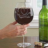 Personalized Full Bottle Wine Glass - Wine For Two - 13972