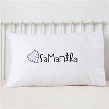 Personalized Girls Pillowcase - Loving Name - 13975