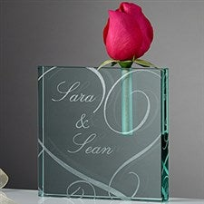 Personalized Bud Vase - Couple In Love - 13978