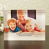 Personalized Photo Lucite Keepsake - Just For Him - 13999