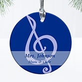 Personalized Teacher Christmas Ornaments - 14001