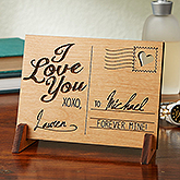 Personalized Romantic Keepsake Gifts - Sending Love Wood Postcard - 14005