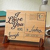 Personalized Romantic Keepsake Gifts - Wood Postcard - 14005