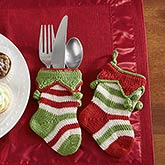Mini Knit Christmas Stockings - Seasonal Stripes - 14015