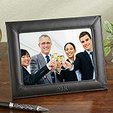 Personalized Leather Picture Frame - Executive Monogram - 14018