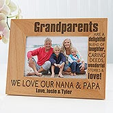 personalized wood picture frames wonderful grandparents 14021