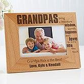 Personalized Grandpa Picture Frames - Wonderful Grandpa - 14026
