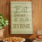 Eat, Drink & Be Irish Basswood Personalized Wood Planks-Small