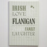 Personalized Canvas Prints - Irish Family - Large