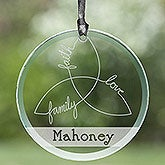Irish Family Triple Knot Personalized Suncatcher
