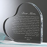Personalized Heart Keepsake Gift for Mothers - Letter To Mom - 14065