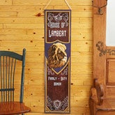 Personalized Family Insignia Crest Door Banner - 14068