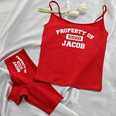 Personalized Red Camisole & Underwear Set - My Girl - 14070