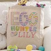 Personalized Kids Easter Tote Bag - Easter Egg Hunter - 14080
