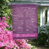 Personalized Easter Garden Flags - Have A Blessed Easter - 14084