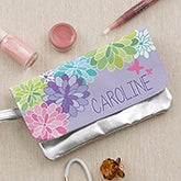 Personalized Girls Wristlet Purse - Flowers - 14088
