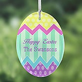 Personalized Easter Egg Suncatchers - Easter Greetings - 14092