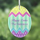 Personalized Easter Egg Suncatchers - Easter Greetings - 14092
