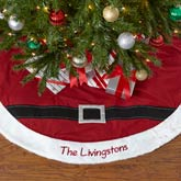 Personalized Christmas Tree Skirt - Santa Belt - 14093
