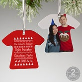 Personalized Christmas Ornaments - Ugly Holiday Sweater - 14094