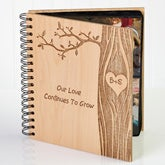 Personalized Romantic Photo Albums - Carved In Love - 14096