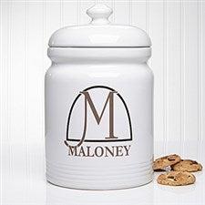 Personalized Cookie Jar - Monogram Elegance - 14099